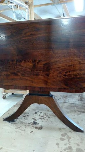 Custom Walnut Drop Leaf Sofa Table