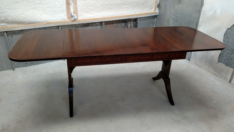 Custom Handmade Walnut Drop-Leaf Table