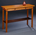 Gloucester Sofa/Entryway Table. Shown here in Cherry with Walnut apron inlay, rack and pulls.