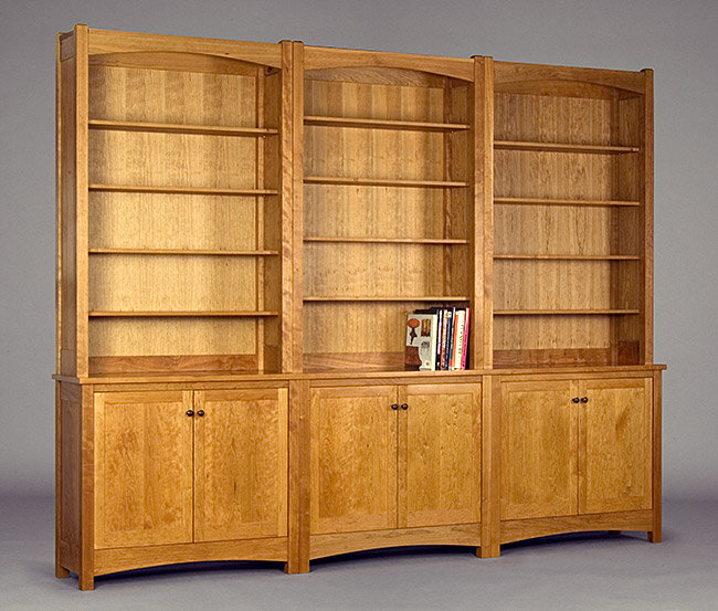 Gloucester three part bookcase