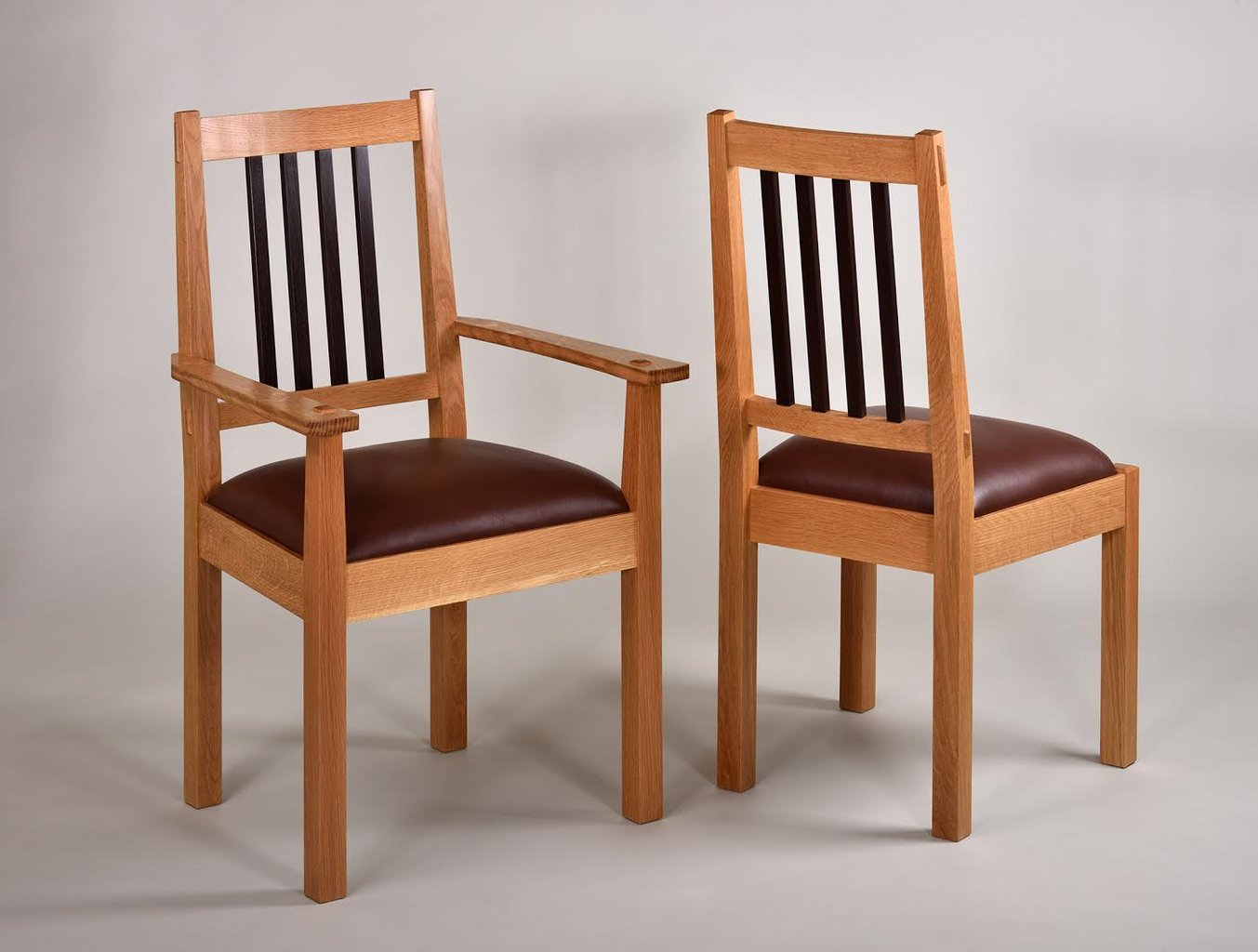 Chalford Dining Chairs. White Oak and Wenge.