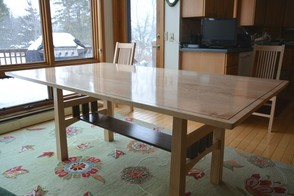 Handcrafted Custom Birdseye Maple Dining Table
