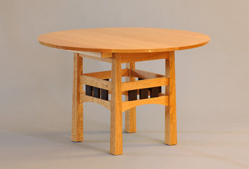 Pickwell Round Extending Table.  Shown closed.