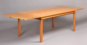 Gloucester Dining Table. Shown in Cherry with Walnut apron inlay.  20