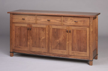 Gloucester Sideboard. Shown here in Walnut with ebonized pulls and apron inlay.