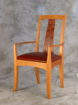Fountain Brook armchair shown in Cherry with Bubinga slats.