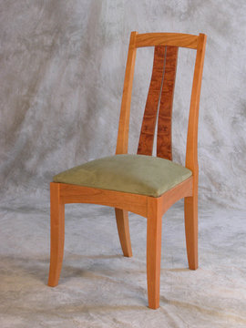 Fountain Brook side chair shown in Cherry with Bubinga slats.
