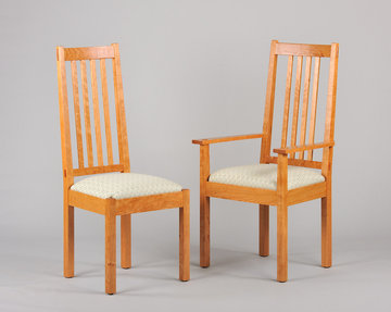 Chalford high-back dining chairs. Cherry.