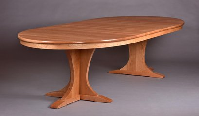 Cherry table shown with three 20 inch leaves in place.