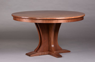 Regency Pedestal Table. Shown closed at a lower angle.